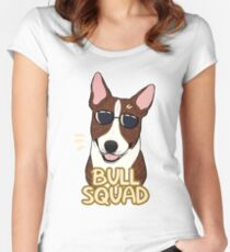 BULL SQUAD (brindle) Women's Fitted Scoop T-Shirt
