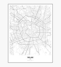 Milan Minimalist Map Photographic Print