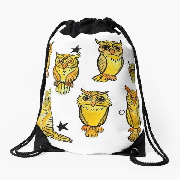 Owls Drawstring Bag