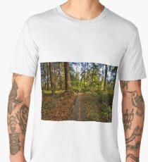 Pathway through the green Men's Premium T-Shirt
