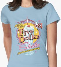 Jack Rabbit Slim's Presents The Five Dollar Coral Pink Shake Womens Fitted T-Shirt