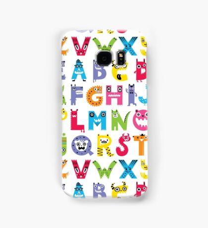 Alphabet Monsters poster Samsung Galaxy Case/Skin