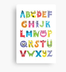 Alphabet Monsters poster Metal Print