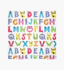 Alphabet Monsters poster Scarf