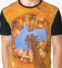 Nîmes, the market place and its palm tree Graphic T-Shirt