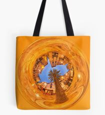 Nîmes, the market place and its palm tree Tote Bag