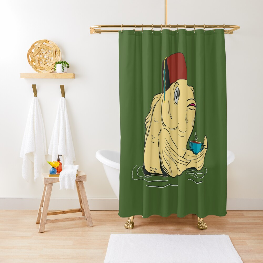 Night of the Cuppa Shower Curtain