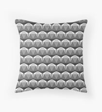 D20 3D Ico Print - B&W Throw Pillow