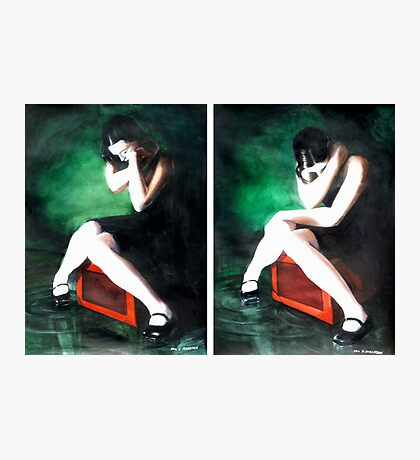 Blame Your Green Eyes; For What They Have Seen. (watercolors) Photographic Print