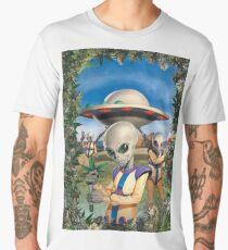 Kush Aliens invading earth Men's Premium T-Shirt