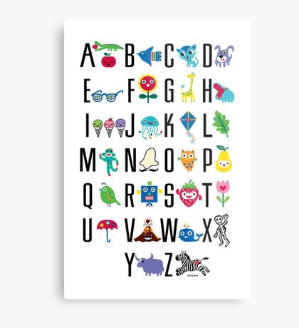 Alphabet Cute  Metal Print
