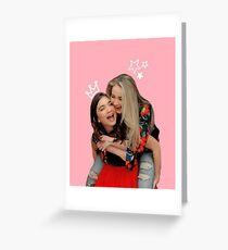 Sabrina Carpenter and Rowan Blanchard (Rowbrina) Greeting Card