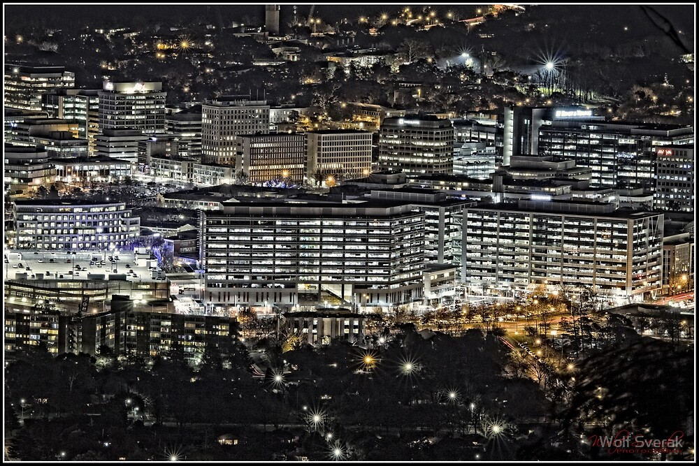 Quot Canberra Cbd At Night As Seen From Mount Ainslie 5