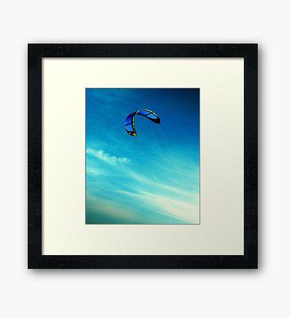 Go fly a kite Framed Print