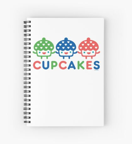 Cupcake Fun primary Spiral Notebook