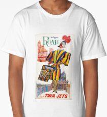 Vintage Rome Travel Swiss Guard Long T-Shirt
