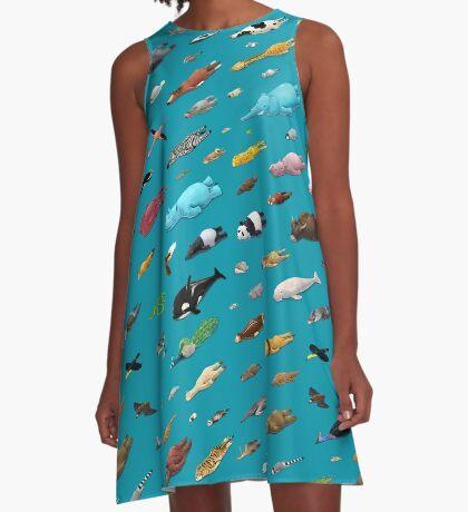 Sleeping Animals A-Line Dress