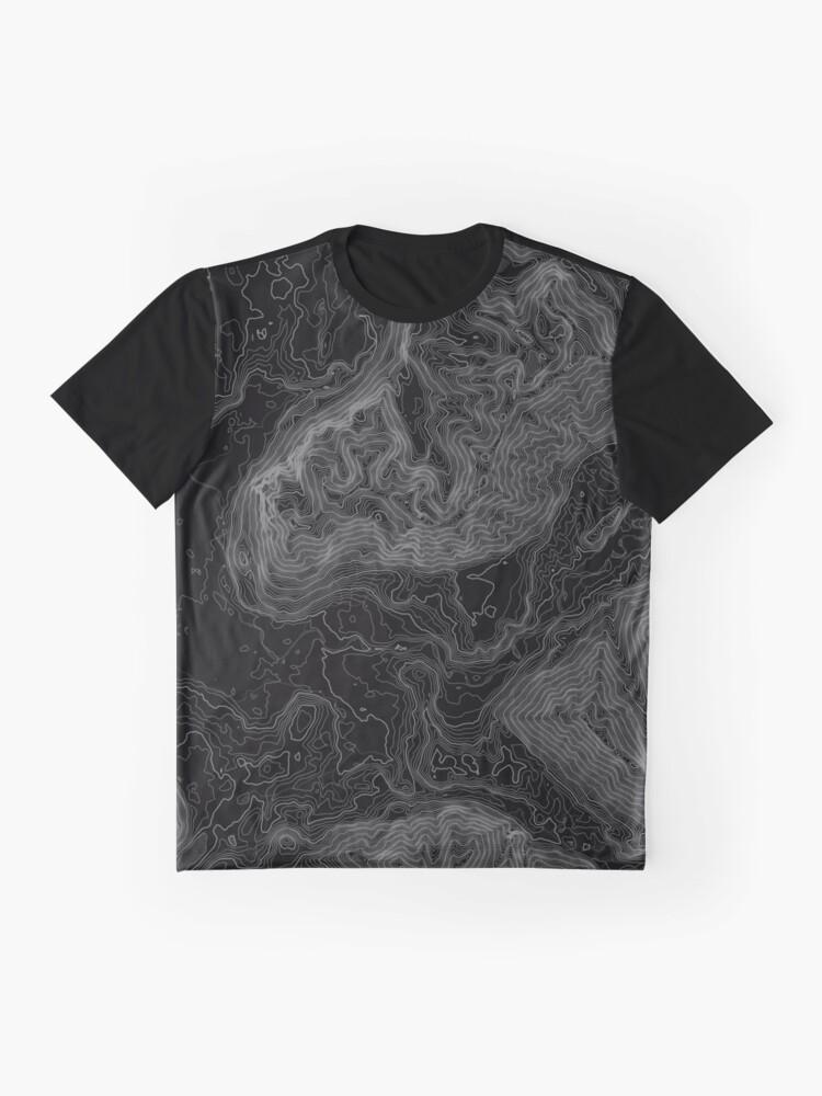 Alternative Ansicht von NORD BEND TOPO KARTE DUNKEL Grafik T-Shirt