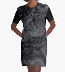 NORTH BEND TOPO MAP DARK Graphic T-Shirt Dress