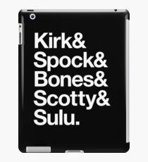 Kirk & Spock & Bones & Scotty & Sulu. iPad Case/Skin