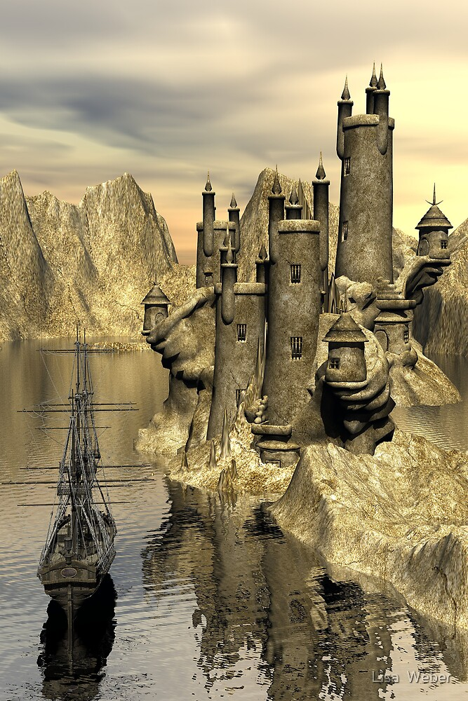 Approaching The Wizards Castle by Lisa  Weber