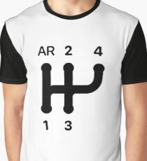 2CV Gear Shift Pattern Graphic T-Shirt