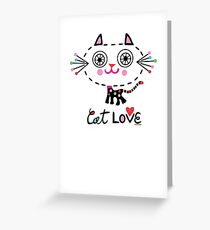 Cat Love - heart Greeting Card