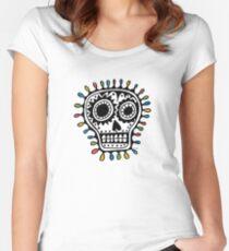 Sugar Skull - sharpie Women's Fitted Scoop T-Shirt