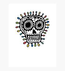Sugar Skull - sharpie Photographic Print