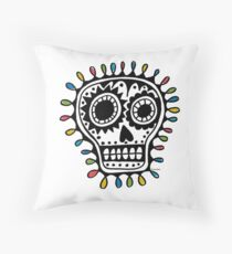 Sugar Skull - sharpie Throw Pillow
