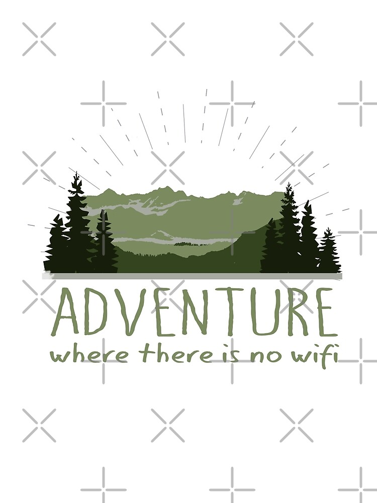 Adventure where there is no wifi - green mountain landscape by jitterfly