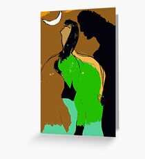 Woman and Man. Greeting Card