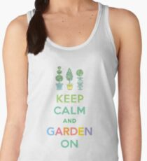 Keep Calm and Garden On  Women's Tank Top