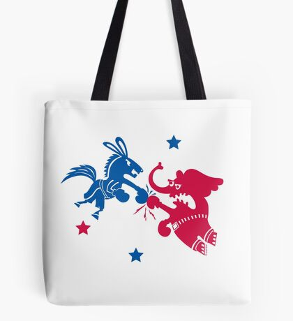 Political Fight t shirt Tote Bag