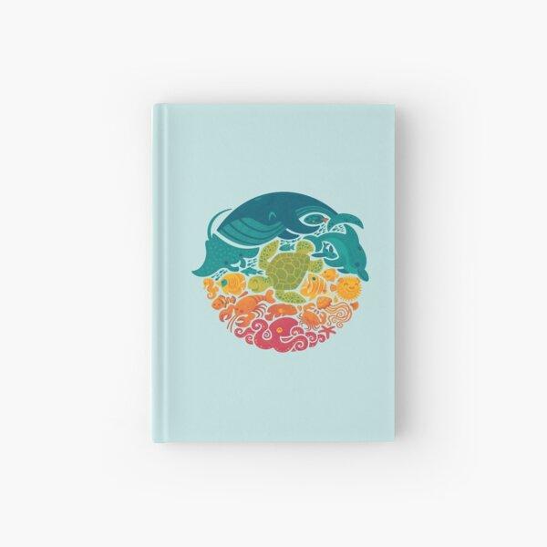 Aquatic Rainbow (light blue) Hardcover Journal