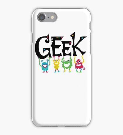 Geek Monsters iPhone Case/Skin