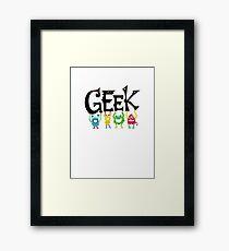 Geek Monsters Framed Print