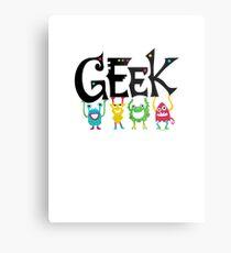 Geek Monsters Metal Print