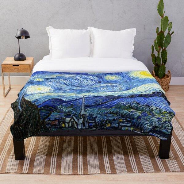 The Starry Night - Vincent van Gogh Throw Blanket