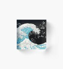 Kanagawa Wave Acrylic Block
