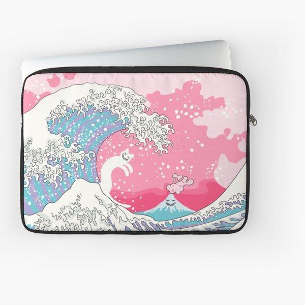 Psychodelic Bubblegum Kunagawa Surfer Cat Laptop Sleeve