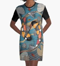 Koi Watergarden Graphic T-Shirt Dress
