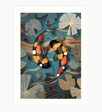 Koi Watergarden Art Print