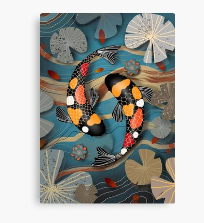 Koi Watergarden Canvas Print