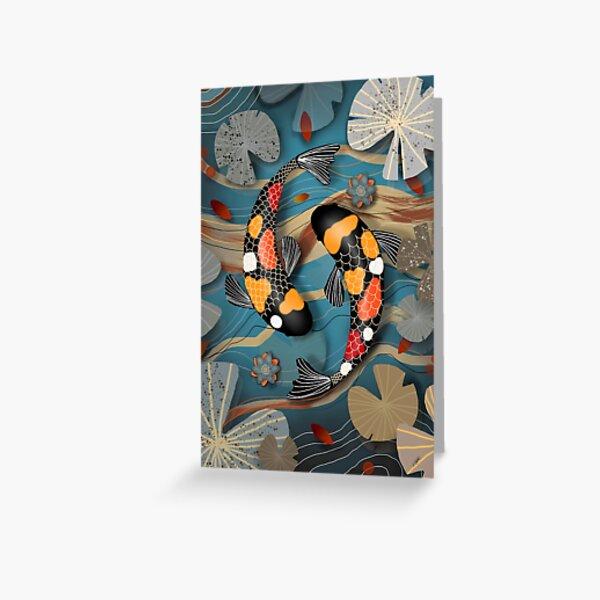 Koi Watergarden Greeting Card