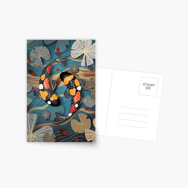 Koi Watergarden Postcard