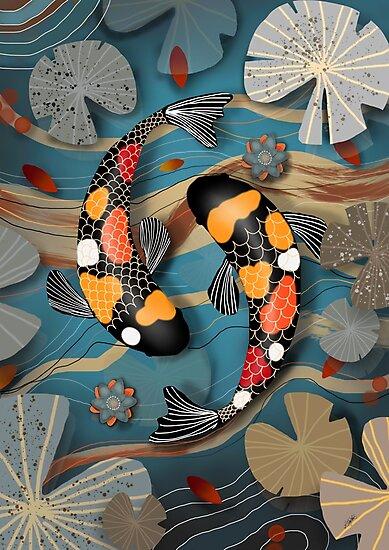 Koi Watergarden by Karin Taylor