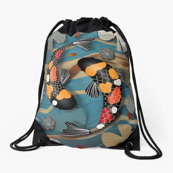 Koi Watergarden Drawstring Bag