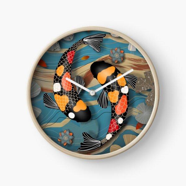 Koi Watergarden Clock