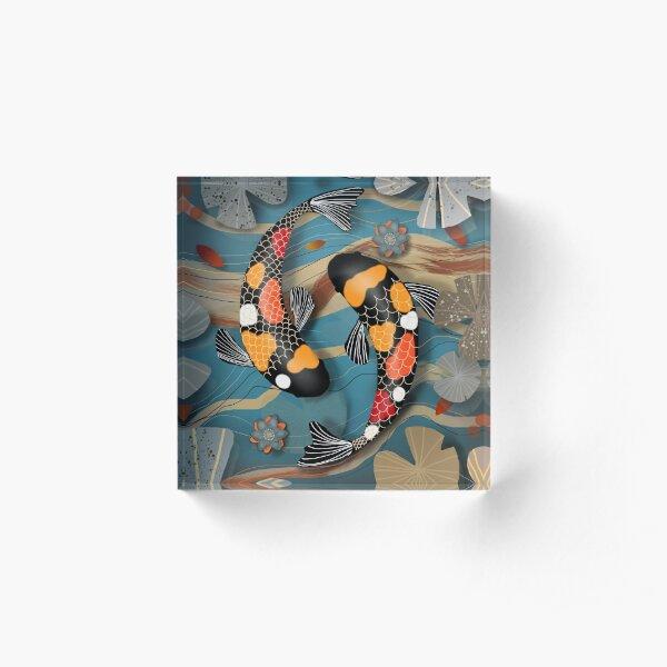 Koi Watergarden Acrylic Block